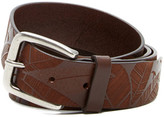 Tommy Bahama Etched Leaves Leather Belt