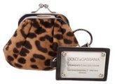 Dolce & Gabbana Ponyhair Coin Purse
