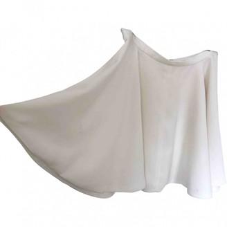 Maje Ecru Silk Skirt for Women