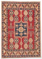 "Ecarpetgallery Hand-knotted Finest Gazni Red Wool Rug 5'4""x7'5"""