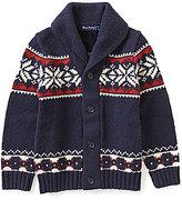 Brooks Brothers Little/Big Boys 4-20 Snowflake Fair Isle Sweater