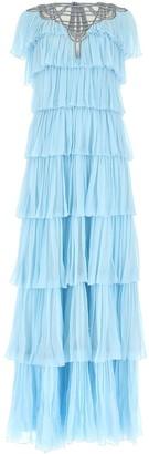 Alberta Ferretti Tiered Maxi Dress