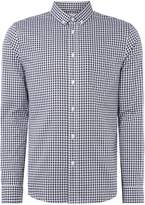 Linea Men's Bromley Herringbone Gingham Shirt