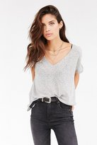Urban Outfitters Project Social T Textured-Knit V-Neck Tee