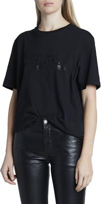 Saint Laurent Metallic Logo Crewneck T-Shirt
