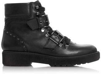 Bertie Provoked Double Buckle Ankle Boots