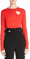 Proenza Schouler Women's Heart Cotton & Silk Blend Sweater