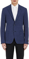 Barneys New York MEN'S SLUB-WEAVE TWO-BUTTON SPORTCOAT-NAVY SIZE 40