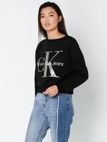 Calvin Klein Jeans CK Metallic Foil Cropped Sweatshirt