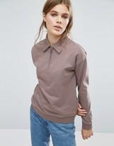Asos Sweatshirt With Retro Zip Details