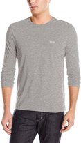 HUGO BOSS Boss Green Men's Togn Modern Fit Single Jersey Long Sleeve T-Shirt, Grey Melange
