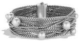 David Yurman Sixteen-Row Chain Bracelet With Pearls