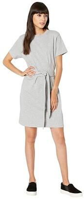Vince Short Sleeve Waist Tie Dress (Grey) Women's Dress