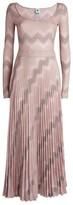 M Missoni Zigzag Lurex Pleated Dress