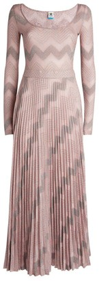 M Missoni Zigzag Lurex Pleated Dress