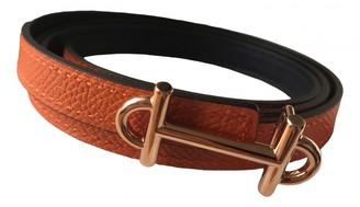 Hermã ̈S HermAs Orange Leather Belts