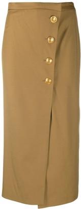 Pinko High-Waisted Buttoned Skirt