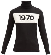 Bella Freud 1970-intarsia Wool Sweater - Womens - Black