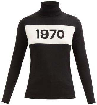 Bella Freud 1970-intarsia Wool Sweater - Womens - Black