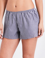Sunspel Striped cotton pyjama shorts