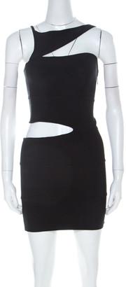 Herve Leger Black Bandage Cutout Vivien Mini Dress XS