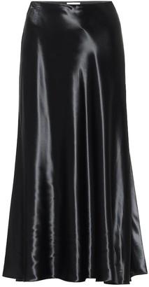 The Row Medela satin midi skirt