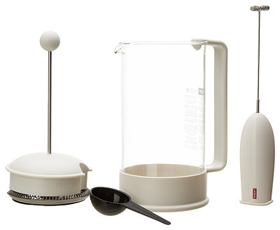 Bodum Brazil Classic 8 Cup French Press Coffeemaker with Bonus Turbo Frother