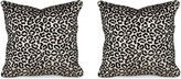 Miles Talbott Collection S/2 Cheetah Velvet 19.5x19.5 Pillows