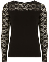Dorothy Perkins Black jersey bow back top