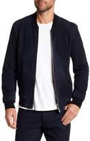 Theory Mock Neck Leather Jacket With Welt Pockets