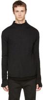 Nude:mm Black Mock Neck Pullover