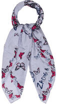 Zadig & Voltaire Butterfly Printed Scarf