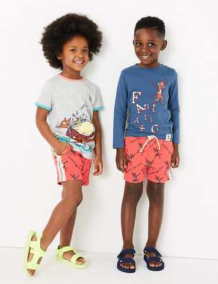 Marks and Spencer Roald Dahl & NHM Fox Shorts (2-7 Yrs)
