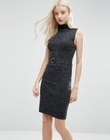 Brave Soul Tie Waist Long Line Knitted Dress