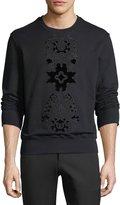 Alexander McQueen Flocked Velvet-Pattern Sweatshirt