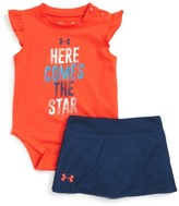 Under Armour Infant Girl's Here Comes The Star Graphic Tee & Skort Set