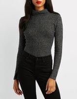 Charlotte Russe Waffle Knit Turtleneck Bodysuit