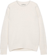 Vince Honeycomb-knit Wool And Yak-blend Sweater - Ecru