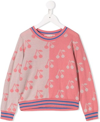 Bonpoint Cherry Print Sweater
