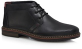 Rieker Black Leather Desert Boots