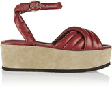 Isabel Marant Rowland padded leather and suede platform sandals