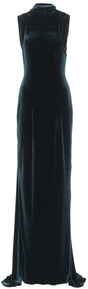 Monique Lhuillier Stretch-velvet gown