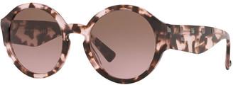 Valentino Round Rockstud Acetate Sunglasses