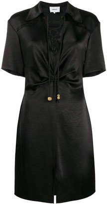 Nanushka Tied-Neckline Mini Dress