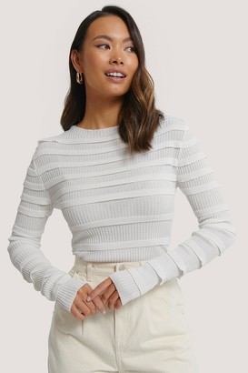 NA-KD Flounce Knitted Sweater