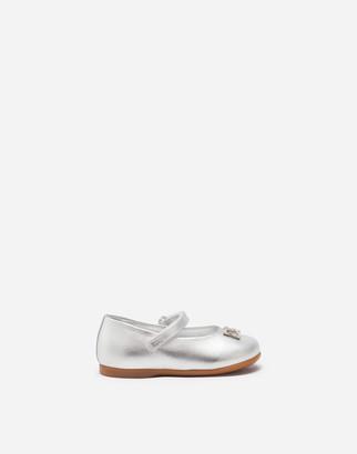 Dolce & Gabbana Ballet Flats Laminated Nappa Leather