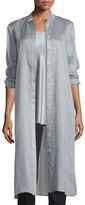 Lafayette 148 New York Auden Long Shirtdress Blouse, Zinc