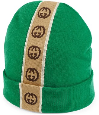 Gucci Children's hat with Interlocking G stripe
