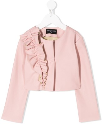 MonnaLisa Ruffle Trimmed Fitted Jacket