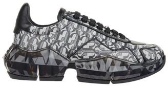 Jimmy Choo Glitter Logo Diamond Sneakers
